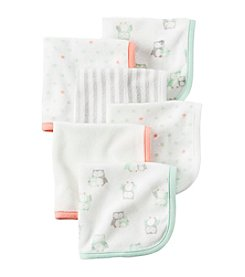 Carter's® Baby 6-Pack Owl Washcloths