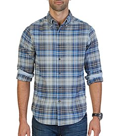 Nautica® Men's Large Plaid Twill Button Down Shirt