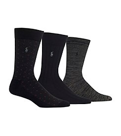 Polo Ralph Lauren® Men's Classic Argyle 3-Pack Crew Socks