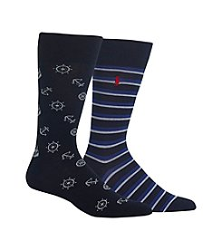 Polo Ralph Lauren® Men's Nautical Icons 2-Pack Socks