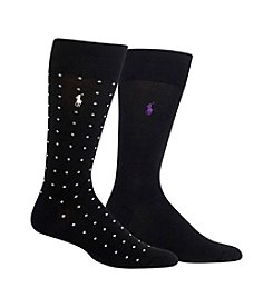 Polo Ralph Lauren® Men's Condensed Dot 2-Pack Socks