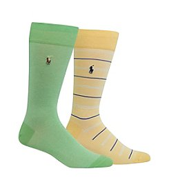 Polo Ralph Lauren® Men's Polo Oxford 2-Pack Socks