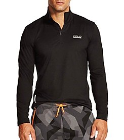 Polo Sport® Men's Peached Stretch Long Sleeve 1/4 Zip Pullover