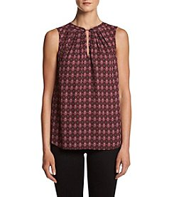 Jones New York® Printed Woven Top