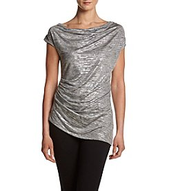 Calvin Klein Cowl Shine Knit Top