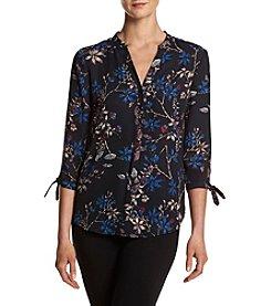 Ivanka Trump® Floral Tie Sleeve Blouse