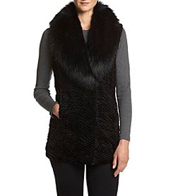 Ivanka Trump® Faux Fur Collar Vest