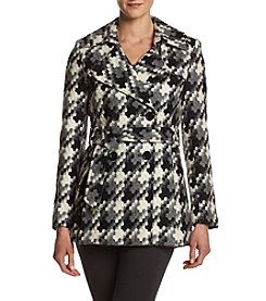 Via Spiga® Belted Puzzle Pattern Coat