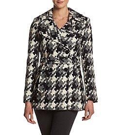 Via Spiga® Belted Puzzle Pattern Coat