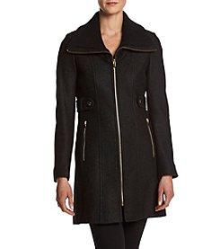 Via Spiga® Zip Front Boiled Wool Coat