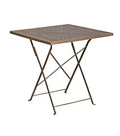 Flash Furniture Square Indoor-Outdoor Steel Folding Patio Table