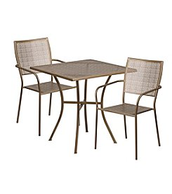 Flash Furniture Square Indoor-Outdoor Steel Patio Set