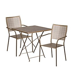 Flash Furniture Square Indoor-Outdoor Steel Folding Patio Set