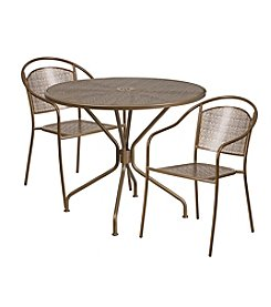 Flash Furniture Round Indoor-Outdoor Steel Patio Set
