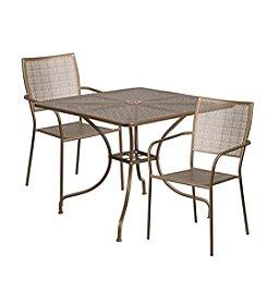 Flash Furniture Square Indoor-Outdoor Steel Patio Set