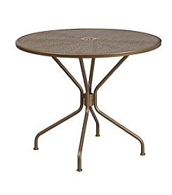 Flash Furniture Round Indoor-Outdoor Steel Patio Table