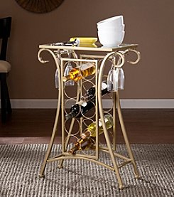 Southern Enterprises Newnan Wine Rack Table