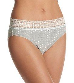 Relativity® Plus Size Dot Print High Cut Panty