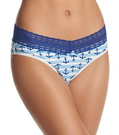 Relativity® Plus Size Anchor Print Bikini Panty