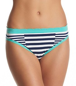 Relativity® Plus Size Seamless Stripe Hi Cut Panty