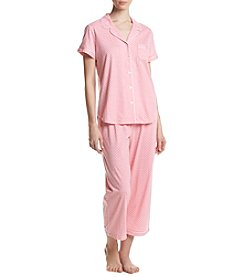 KN Karen Neuburger Dot Capri Pajama Set