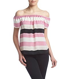 Kensie® Striped Off-Shoulder Top