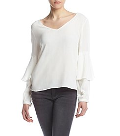 Kensie® Soft Peasant Top
