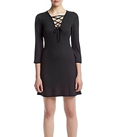 Kensie® Lace-Up Knit Dress