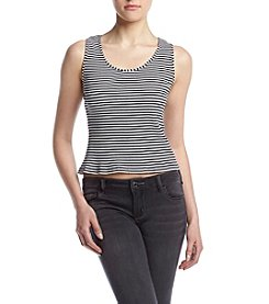 Kensie® Ribbed Stripe Tank