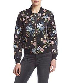 Pink Rose® Floral Bomber Jacket