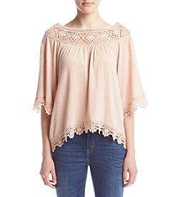 Eyeshadow® Off-Shoulder Gauze Top