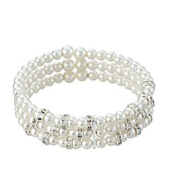 Studio Works® Simulated Pearl Three Row Bracelet