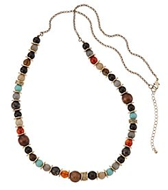 Ruff Hewn Multi Color Beaded Necklace