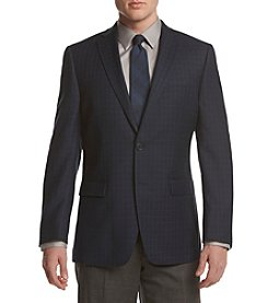 Calvin Klein Men's Windowpane Slim Sport Coat