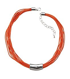 Studio Works® Multi Row Orange Cord Necklace