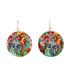 Studio Works® Multi Color Printed Shell Earring