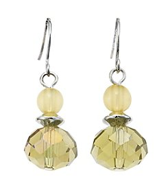 Studio Works® Yellow Bead Double Drop Earring