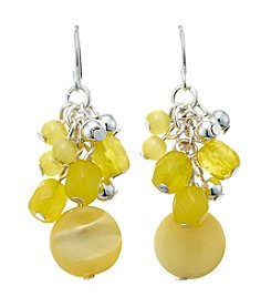 Studio Works® Yellow Bead And Shell Cluster Earrings