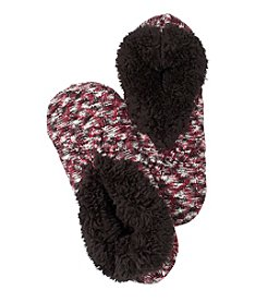 Fuzzy Babba® Teddy Fur Space Dye Cable Slippers