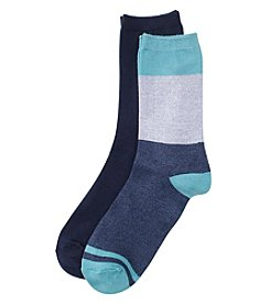 Relativity® 2-Pack Colorblock Socks