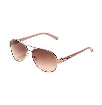 Jessica Simpson Aviator Metal Sunglasses