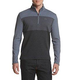 Calvin Klein Men's Colorblock Mock Neck Quarter Zip Sweatshirt
