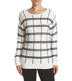 Calvin Klein Knit Plaid Sweater