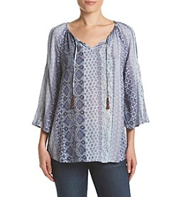 Ruff Hewn Cold Shoulder Peasant Top