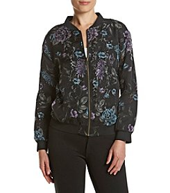 Ruff Hewn GREY Printed Lace Bomber