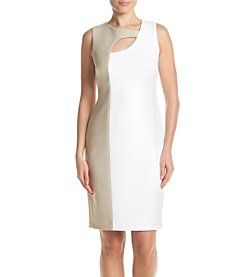 Calvin Klein Colorblock Scuba Dress