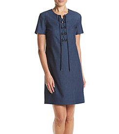 Tommy Hilfiger® Lace-Up Denim Shirt Dress