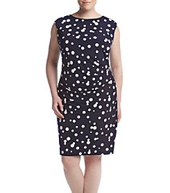 Jessica Howard® Plus Size Polka Dot Dress