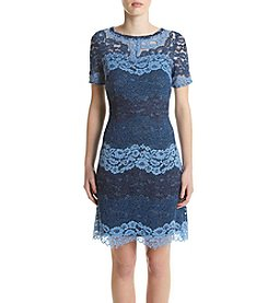Jessica Howard® Striped Lace Dress