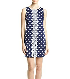 Madison Leigh® Embroidered Polka Dot Dress